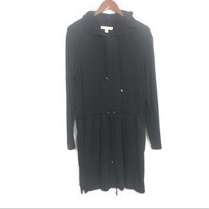 Michael Kors | Womens Black Sweater Hood Dress M